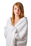 Cheerful girl in the towel Royalty Free Stock Photos