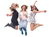 Cheerful girlfriends Royalty Free Stock Photos
