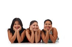 Cheerful girlfriends Stock Photography