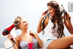 Cheerful Girls Stock Images