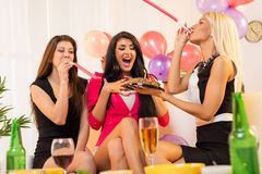 Cheerful Girls On Birthday Party Stock Images
