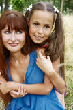 Cheerful girls outdors Stock Images