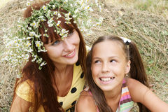 Cheerful girls outdors Stock Photography