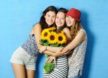 Cheerful girls Stock Image