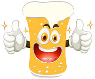 Cheerful glass of beer Royalty Free Stock Images