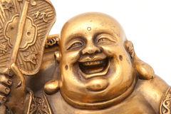 Cheerful Golden Hotei. Close-up Royalty Free Stock Photo