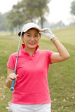 Cheerful golf player Royalty Free Stock Photos