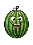 Cheerful goofy watermelon Stock Images