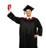 Cheerful graduated man Royalty Free Stock Photo