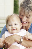 Cheerful Grandmother With Granddaughter Royalty Free Stock Photo