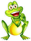 A cheerful green frog Stock Image