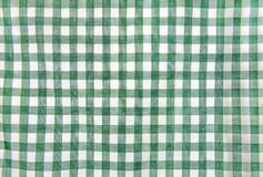 Cheerful in green and white classic rustic traditional gingham. Pattern Stock Photos