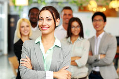 Cheerful group of co-workers Royalty Free Stock Image