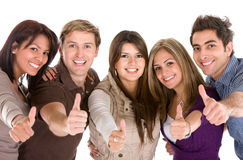 Cheerful group of friends Stock Image
