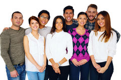 Cheerful group of friends Stock Photo