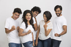 Cheerful group of Indian students Stock Photography