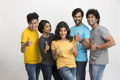 Cheerful group of Indian young friends Stock Image