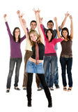 Cheerful group of people Stock Images