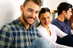 Cheerful group people Stock Images