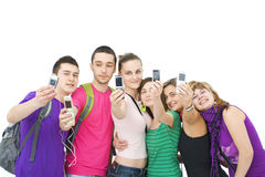 Cheerful group of teenagers Stock Images