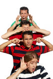 Cheerful group of young guys Stock Photos