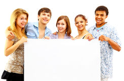 Cheerful group of young people Stock Photos