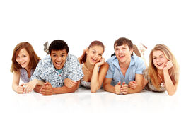 Cheerful group of young people Royalty Free Stock Image