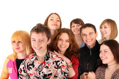 Cheerful group of young people. Stock Photo