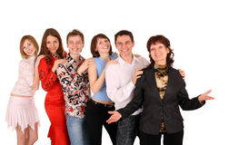 Cheerful group of young people. Royalty Free Stock Image