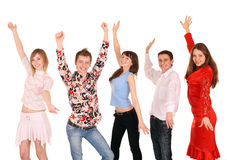 Cheerful group of young people. Royalty Free Stock Photos
