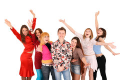 Cheerful group of young people. Stock Photography
