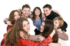 Cheerful group of young people. Royalty Free Stock Photography