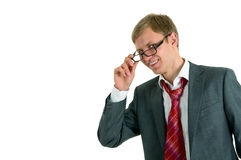 The cheerful guy Stock Photography