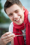 Cheerful guy Royalty Free Stock Image