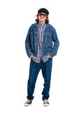 Cheerful guy in jeans Royalty Free Stock Images