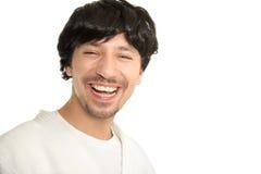 Cheerful guy smiles Stock Photos