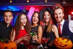 Cheerful Halloween night Stock Images