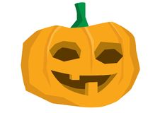 A cheerful Halloween pumpkin smiling - illustration isolated on white. Background stock illustration