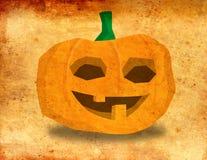 A cheerful Halloween pumpkin smiling - illustration vintage grunge background. Stock illustration vector illustration