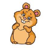 Cheerful hamster cartoon illustration Royalty Free Stock Images