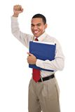Cheerful Happy African American Businessman Stock Photo
