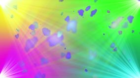 Cheerful happy. Colorful background with spot lights and flying cloudy particles. For Promos, movie trailers, commercials, opening titles, interviews etc