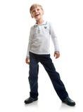 Cheerful happy schoolboy Royalty Free Stock Photo