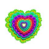 Cheerful heart card Stock Photo