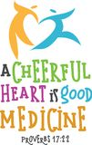 Cheerful Heart. A scripture design great for logos,cards, bulletin covers and more stock illustration