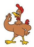 Cheerful hen. vector illustration