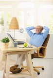 cheerful his man old portrait study Стоковые Фотографии RF
