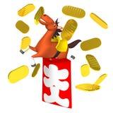 Cheerful Horse In Full‐house Bonus Bag Royalty Free Stock Photography
