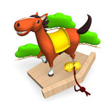 Cheerful Horse On Japanese Votive Picture Royalty Free Stock Images