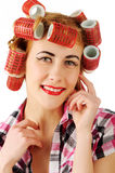 Cheerful housewife Royalty Free Stock Photo